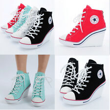 Wedges Trainers Heels Sneakers Platform High Top Ankles Boots Shoes 777 rubyruby