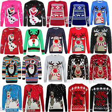 LADIES WOMENS MENS XMAS CHRISTMAS NOVELTY VINTAGE 70'S JUMPER RETRO SWEATER SIZE