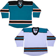 DJ300 NHL Style Replica Hockey Sock & Jersey w/NAME & NUMBER San Jose Sharks