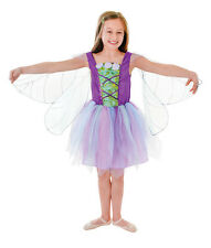 PURPLE WINGED FAIRY FANTASY CHILD FAIRY TALE FANCY DRESS COMPLETE OUTFIT 3 SIZES