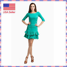 SGC14gn Ballroom Latin Rhythm Salsa Swing Dance Dress Top Skirt Set