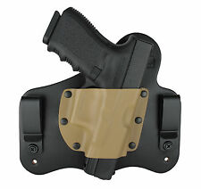 Leather & Kydex Hybrid IWB Concealed Gun Holster for H&K HK45 Compact