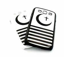 #282 for Samsung Galaxy S3 SIII Case Cover CRESCENT MOON and CROSS stripes flag