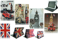 NEW UNION JACK ENGLAN LONDON VINTAGE PRINT FLIP CASE COVER FOR APPLE I PAD 2 3 4