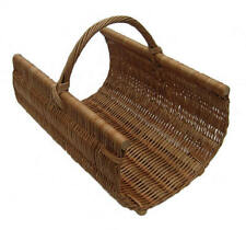 Traditional Strong Willow Wicker Log Holder Basket