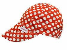 NWT Comeaux Caps Welding Welders Hats Pipe Fitter Reversible Red Polka Dot