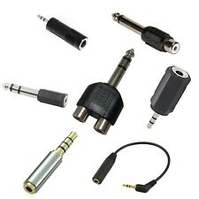 "2.5mm 3/32"" 3.5mm 1/8"" 6.35mm 1/4"" Audio Adapter wholesale lots"