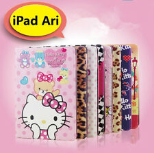 Hello Kitty Lovely Cute Leather Smart Case Cover for New Apple iPad Air 1st Gen.