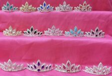 NEW Womens Girls WEDDING PAGEANT PARTY Chunky Stone Rhinestone Tiara Crown Comb
