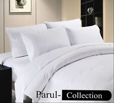 Luxury Soft Hotel Collection White Solid 1000TC 100%Cotton US Bedding All Size