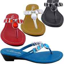 New Women Sandal Low Heels Wedge Shoes Flip Flops Thong Size 5 6 7 8 9 10 Baby01