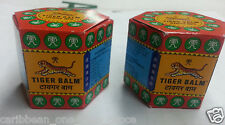 2 x Tiger Balm Red or White Massage Ointment Pain Relief Muscle Ache Menthol