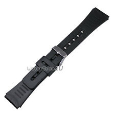 Silicone Rubber Pin Buckle Wrist Watch Band Strap Black 22mm