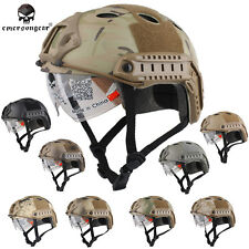 Airsoft Tactical Emerson FAST Helmet with Protective Goggle PJ EM8819 - 7 colors