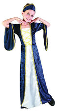 REGAL PRINCESS BLUE MEDIEVAL FANCY DRESS COMPLETE OUTFIT ALL AGES