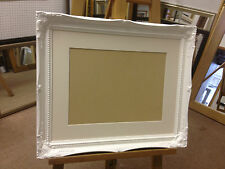 """2""""  SHABBY CHIC PHOTO/PICTURE FRAME WITH PICTURE MOUNT-VARIOUS SIZES AND COLOURS"""