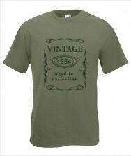 Vintage 1964 Aged to Perfection Funny 50th Birthday T-Shirt Size S to XXXL