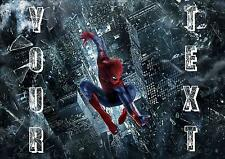 Spiderman * Personalised Water Resistant Place Mat / Door Sign / Poster