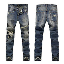 NEW Men Italy Style Fashion Distressed Destroyed DENIM JEANS D#831 Size 28-36