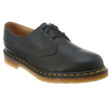 Mens Dr Martens 1461 3 Eye Gibson Lace Up Shoe Black Nappa R11838001