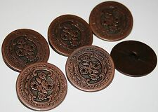 ** 6x Vintage French Style Floral Metal Buttons ~ Flower ~ 18mm 22mm 28mm **