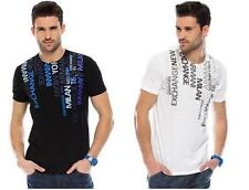 New Armani Exchange AX Mens Slim/Muscle Fit Colorful Text Tee Shirt