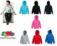Fruit of the Loom Kids Hooded Sweat All Colours & Sizes