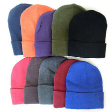 Lots Beanies caps Winter sports Acrylic Knit Unisex Beanie Hat 8 Solid colors