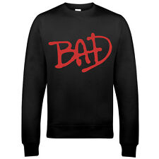 9100 BAD tribute MICHAEL JACKSON SWEATSHIRT 80s 90s MJ pop king off the wall