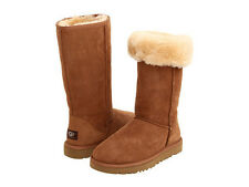 NEW WOMEN BOOT UGG AUSTRALIA W CLASSIC TALL CHESTNUT 5815 ORIGINAL SO COMFORT
