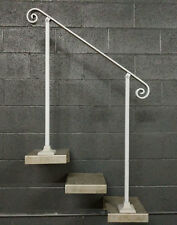 Steel Stair Handrail 3 to 6 foot in length base plate posts adjustable pitch