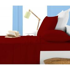 USA Complete Bedding Set- 1000TC Blood Red (Solid&Striped)EGYPTIAN COTTON