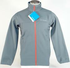 Columbia Mt. Village Softshell Gray Zip Front Omni Shield Insulated Jacket Mens