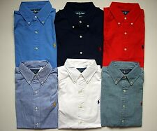 NEW Men Polo Ralph Lauren Button-down Sport Shirt Size S M L XL XXL CLASSIC FIT