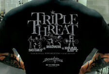 Triple Threat Squat Bench Dead Lift - Powerlifting T Shirt by Ironville Clothing