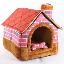 New Brick Wall Chimeny Pet Dog Cat House Beds Kennel +Toy 3types size M,L,XL