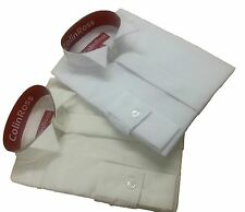 "FREE POST Boy's White or Ivory Wing  Collar Pageboy Wedding Shirt 10""-14"""