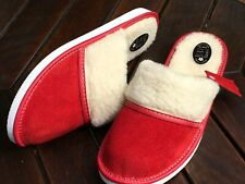 Ladys Sheepskin Suede Leather Slippers Wool Shoes Size 3 4 5 6 7 8