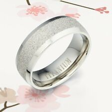 Valentines Day Gifts Plain Titanium Wedding Ring AB092