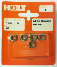HOLT Marine Prepack Din 934 A4 / 316 S/S Hexagon Full Nuts (PPA/PPB/PPC/PPD)