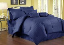 1000TC (SOLID/STRIPE) EGYPTIAN BLUE EGYPTIAN COTTON COMPLETE BEDDING COLLECTION