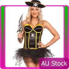Ladies Wench Caribbean Pirate Costume Swashbuckler Halloween Fancy Dress Up Hat