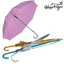 COLORFUL TRANSPARENT CLEAR UMBRELLA FASHION RAIN WOMAN ORIGINAL NOVELTY GIFTS