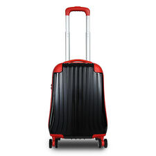 "JLY 4 Wheel Hard Shell Luggage Travel Trolley Suitcase 18""/22""/26"" Sizes 2116"