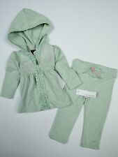 NWT Girls Calvin Klein outfit Track/Sweat Suit Lilac Purple Lite Green Mist 12mo