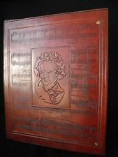 A4 Ring Binder for Sheet Music or Stamp Album - Hand-Tooled Leather - BEETHOVEN