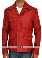 Fight Club Red leather jacket for Men