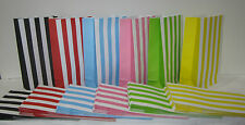 20 STRIPED Lolly Candy Bags Party Favours Loot Lolly Party Bag - Candy Buffet
