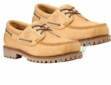 Timberland Men's Earthkeepers Barentsburg 3 Eye Leather YELLOW Boat Shoes 73576