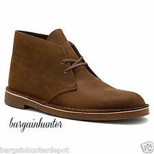 CLARKS MENS BUSHACRE 2 DESERT BOOT BEESWAX LEATHER Chukka Casual Boots 82286